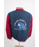 Vintage Disney Store Eeyore Denim Varsity Bomber Jacket Large Embroidere... - $79.19