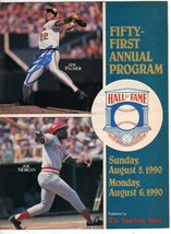 JIM PALMER SIGNED FIFTY FIRST HALL OF FAME PROGRAM 1990 - $14.36