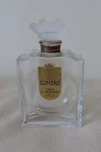 Vintage 1940'a Jean D'HENNERY ROMERO Perfume Bottle with Glass Stopper 3... - $39.00