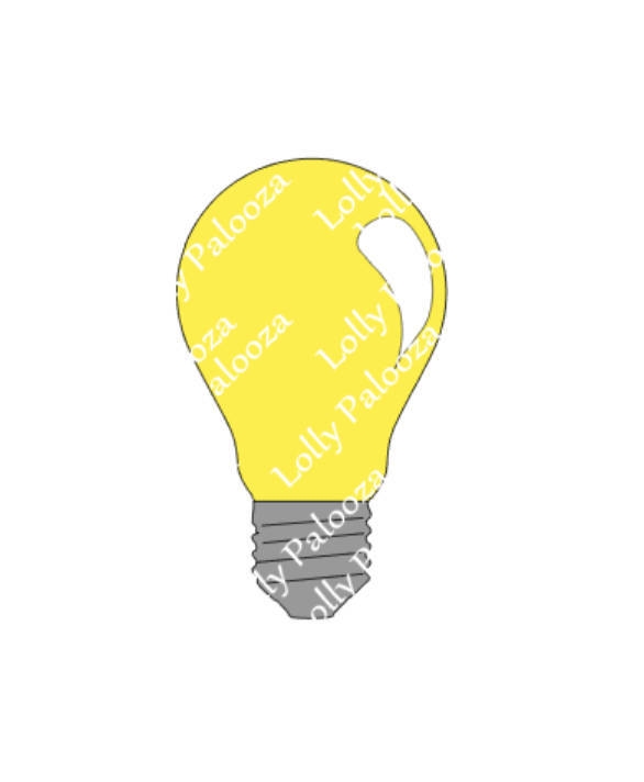 Lightbulb DIGITAL File.  Instant Download.  PNG, SVG Files.  No Physcial Shippin