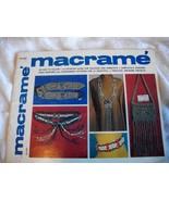 Macrame' Craft Book - $7.00