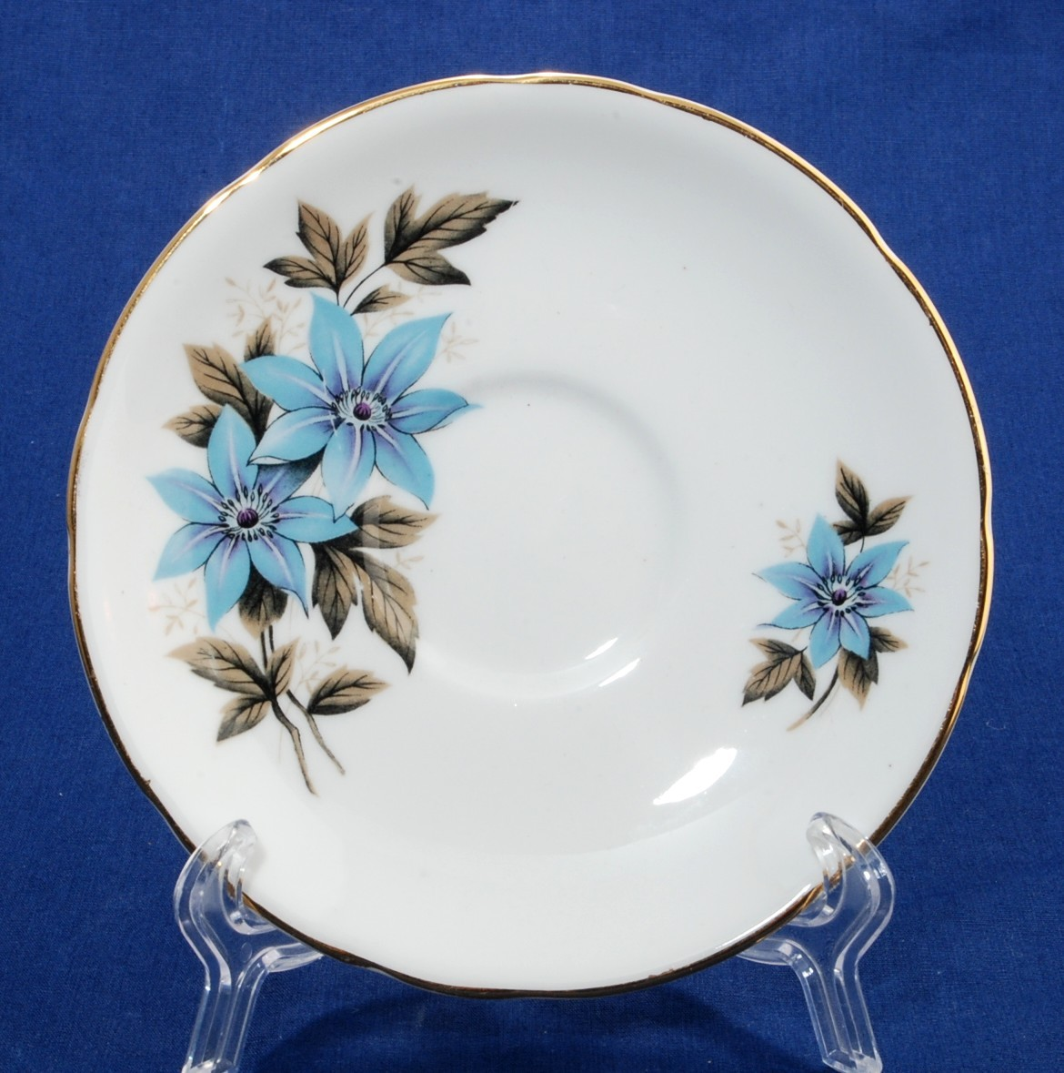 Primary image for Royal Stafford Cheshire Blue Bonnet Saucer Bone China