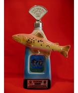 Vintage Jim Beam Bourbon Whiskey Decanter Trout Fish Fisherman Fishing S... - $34.95