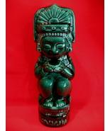 Vintage Dark Green Tiki Kahlua Decanter Bottle Collector Collectible Tik... - $24.95
