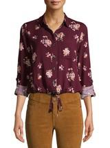 No Boundaries Women's Juniors Long Sleeve Tie Front Woven Shirt 3XL (21)... - $16.82