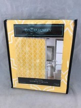 Cynthia Rowley Fabric Shower Curtain Yellow And White New Cotton 72 x 72  - $24.18