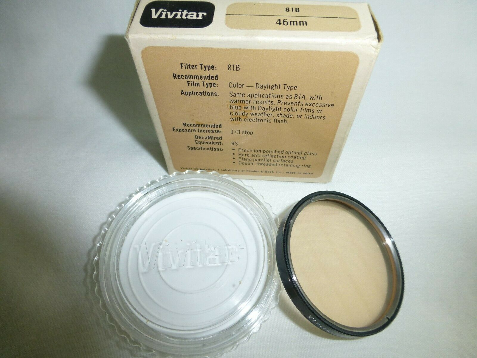 Primary image for Vivitar 46mm  81B FILTER Made In Japan very old stock new 46