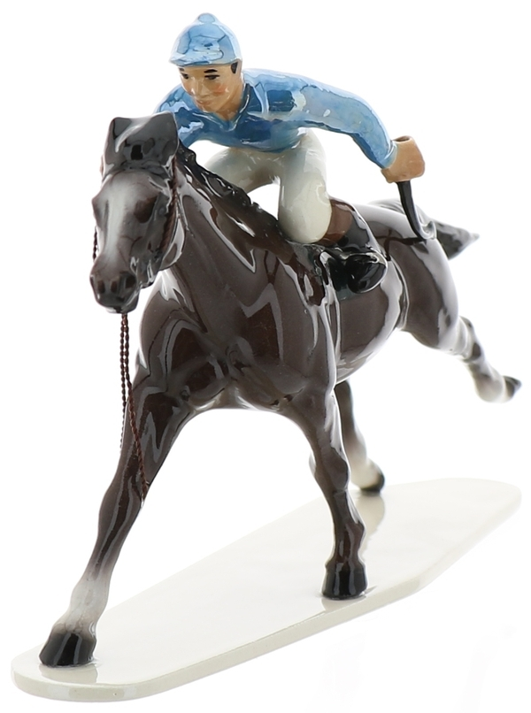 Hagen-Renaker Specialties Large Ceramic Figurine Race Horse with Jockey