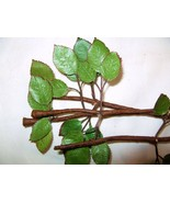 VINTAGE MILLINERY FLOWER Rose Branch Stem & Lea... - $10.55