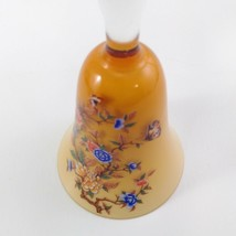 Norleans Glass Bell Asian Floral Themed with Butterflies Transferware Made in It image 2