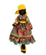 "Vintage 1977 Dutch Doll Hand Made Ebony Doll from the Dutch Antilles 13""... - $46.74"