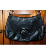 Coach Soho Black Leather Pleated Flap Bag 17217 - $31.50