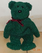 TY 2001 Holiday Teddy Bear Beanie Baby plush toy - $3.00