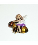"Fairy Riding Bee Sew Down Metal Button 3/4"" x 3/4"" - Lt. Brown Hair Fair... - $15.99"