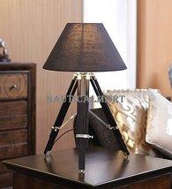Nauticalmart Chrome Finish Tripod Table Lamp With Black Shade - $155.82
