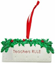 Lenox 878982 Teachers Rule Metal Ornament New in Box - $17.16