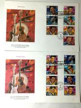 Rock & Roll Rhythm & Blues Jun 16, 1993 UA Fleetwood FDC 6x9 Booklet She... - $9.90