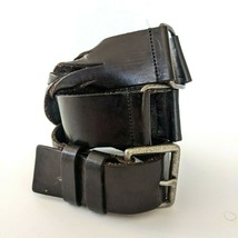 Linea Pelle Unisex 33 32 30 29 Belt Leather Handmade Twisted Solid Brass... - $47.40