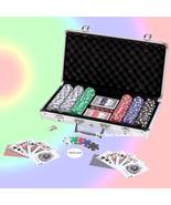 309 Piece Poker or Black Jack Card Set with Chips in Aluminum Case - $32.79