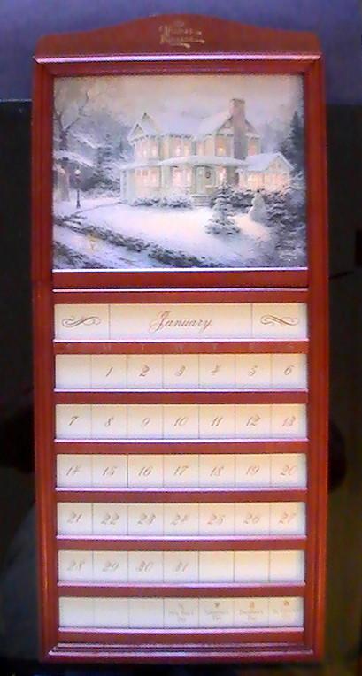 Perpetual calendar thomas kinkade cherry 013