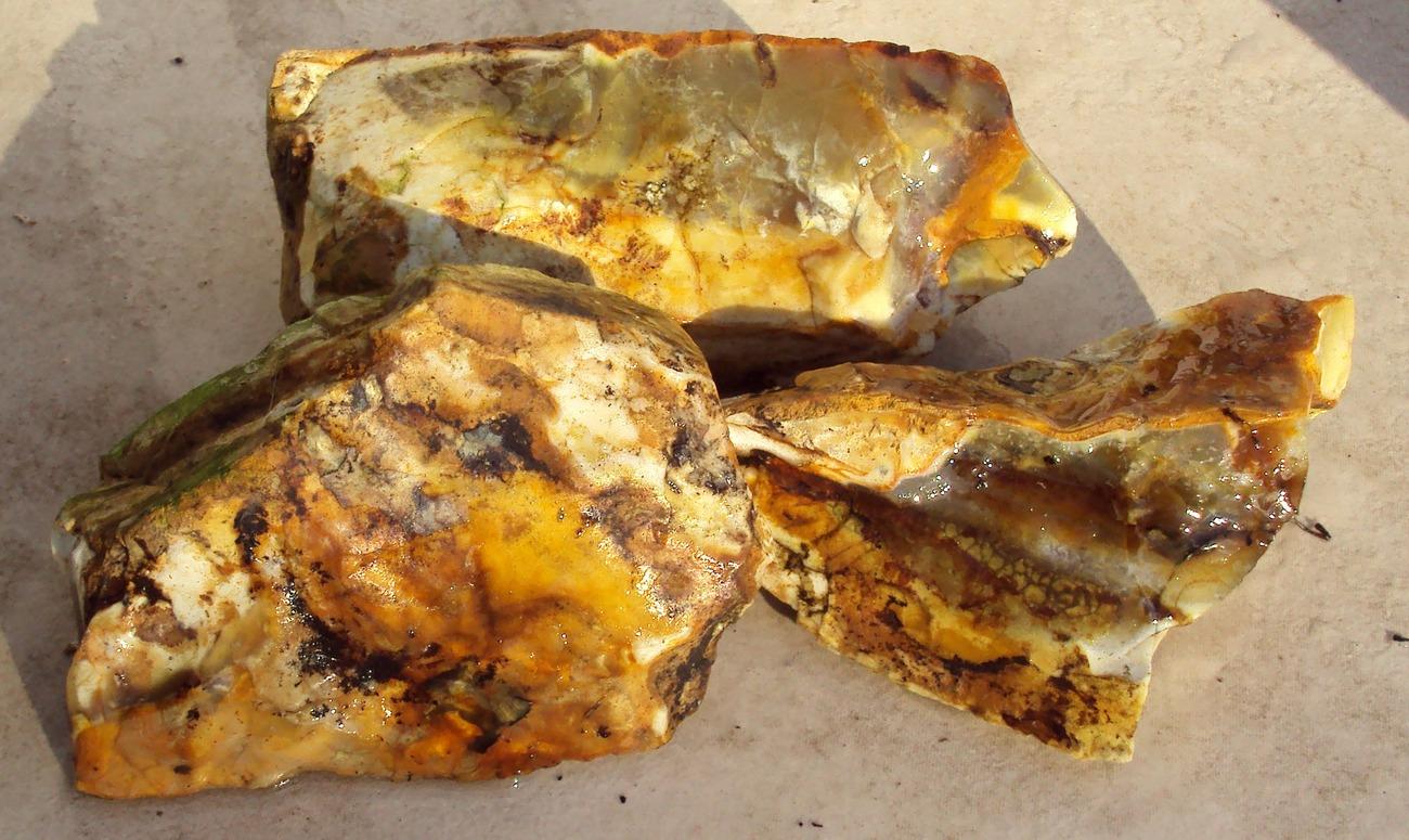3 pieces old stock Non Precious Opal, #NPO113