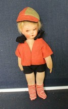 "Vintage Cloth Doll Side Glancing Eyes Jointed Blonde Hair TLC 12"" - $29.92"