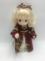 """Precious Moments Angel """"Mary"""" Doll  from 1999 - Holiday Dress - Wreaths ... - $17.35"""