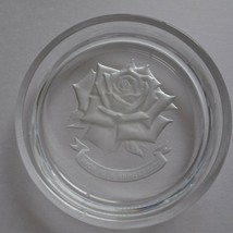 Avon Japan 15th Anniversary rose club collector glass plate 1987 No box - £15.42 GBP