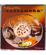 "14"" Crystal Clear Cassandra 2pc Frosted Floral Chip & Dip Vegetable Serv... - $21.99"