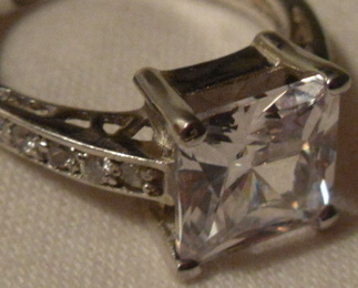Primary image for Ring - Faux Princess Cut Diamond Solitaire