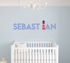 Wonderful Lighthouse X-large Wall Decal Decor For Home Custom Name - $26.55