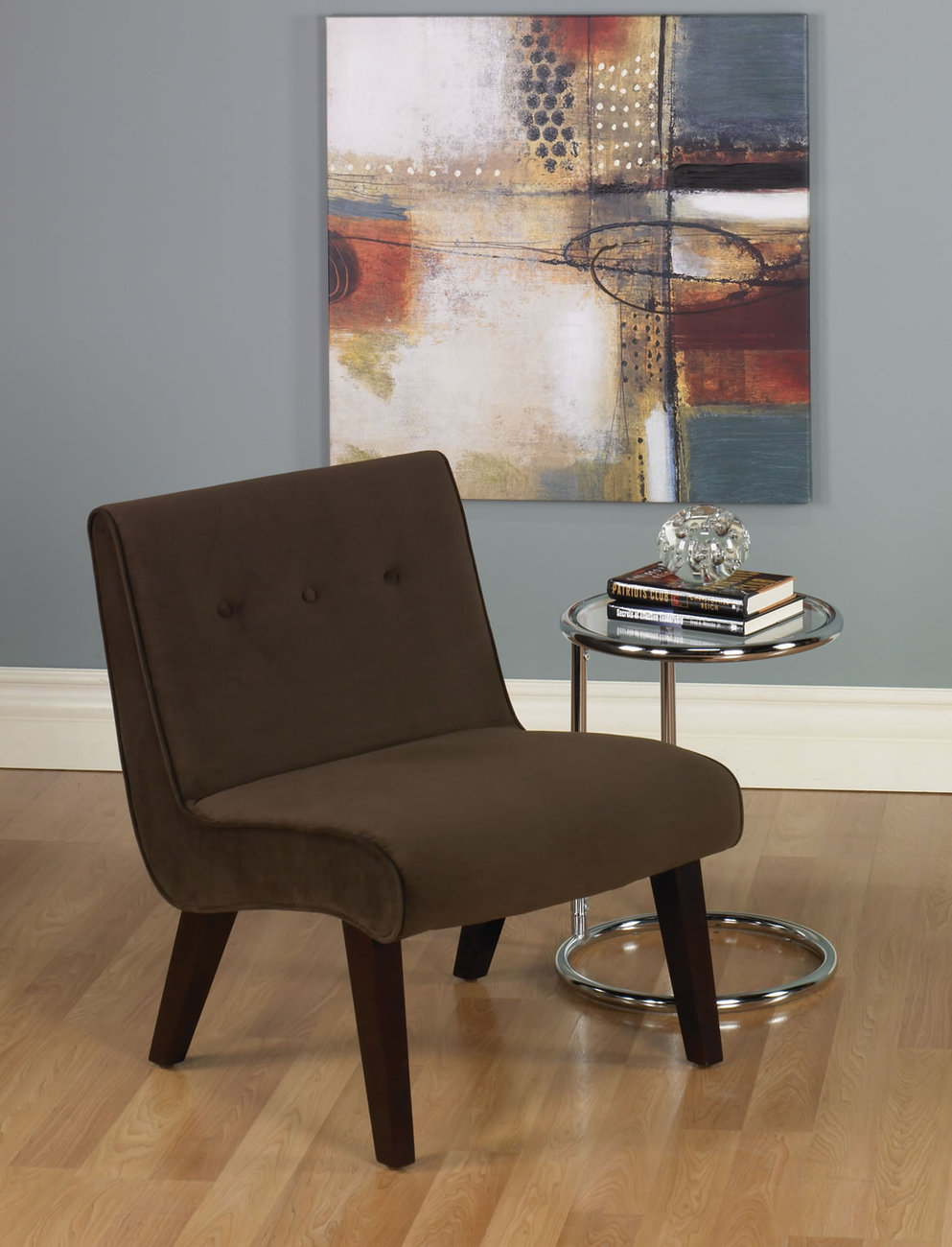 Ave six valencia armless living room accent chair for Living room with accent chairs