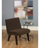 Ave Six Valencia Armless Living Room Accent Chair Chocolate Fabric & Woo... - $149.99