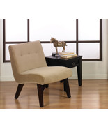 Ave Six Valencia Armless Living Room Accent Chair Coffee Fabric & Wood Legs - $149.99
