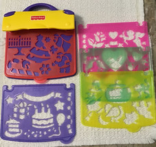 Fisher Price Stencil Book Holiday Fun Art Drawing Caddy - Complete Set, 1995 - $23.76