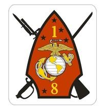 USMC 1st Battalion 8th Marines Sticker - $9.89