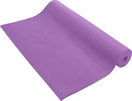 Pure Fitness Sticky Non-Slip Exercise Yoga Mat, 3 mm Thick, Purple - $17.07