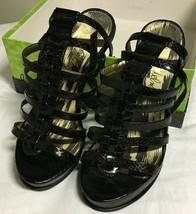 Sam Edelman Mariella Black Leather Platform Heels Strappy Sandals Size 7M - $29.35