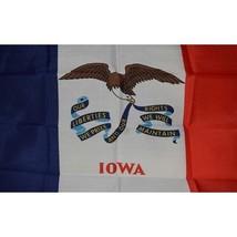Iowa State Flag 3 x 5 quality + 6 ft Woodgrain Pole + Mount made in USA - $29.65