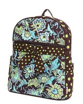 Belvah quilted floral backpack book bag QF2746(BRLM) - $25.00