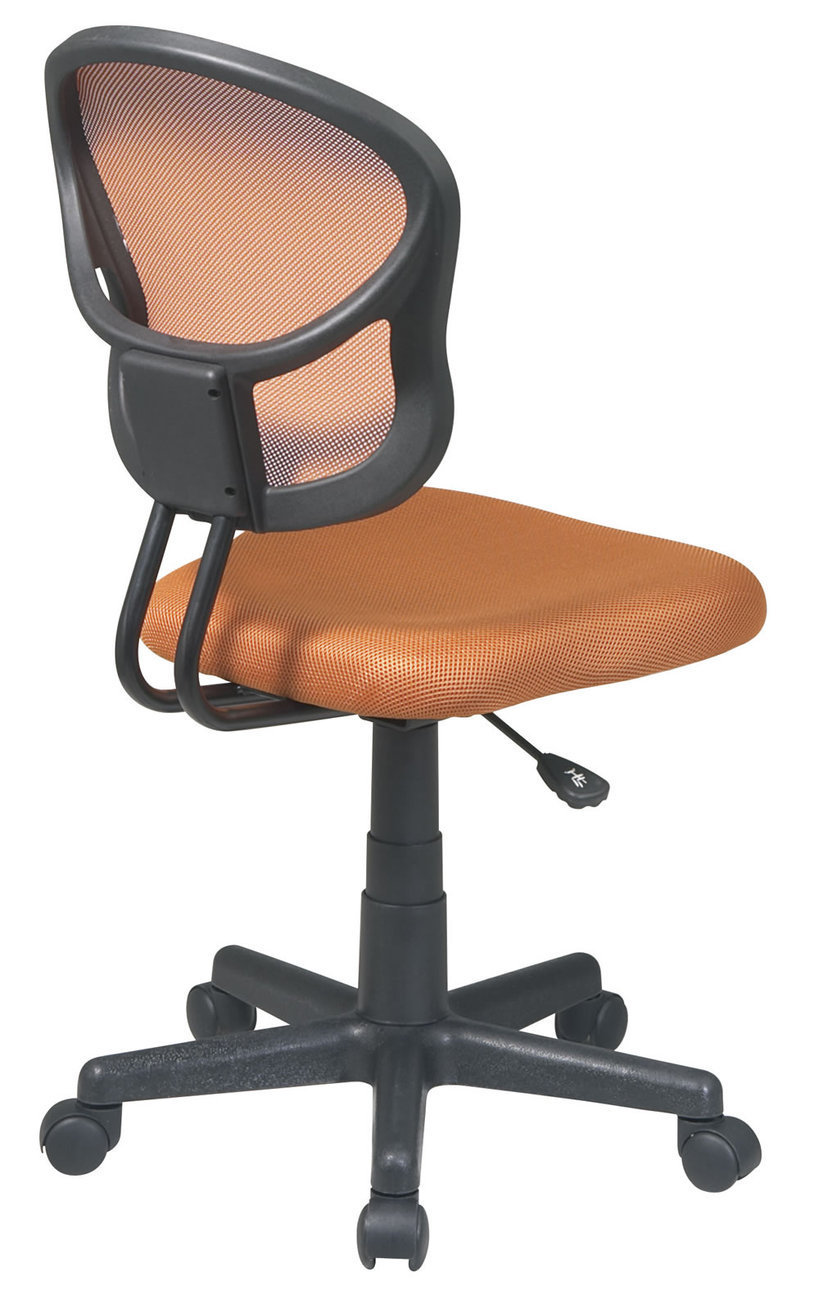 Screen Back ORANGE Fabric Seat Computer Desk Task Swivel ...