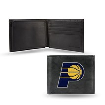 Indiana Pacers Wallet Embroidered Billfold Official NBA RICO Leather Black - $33.45
