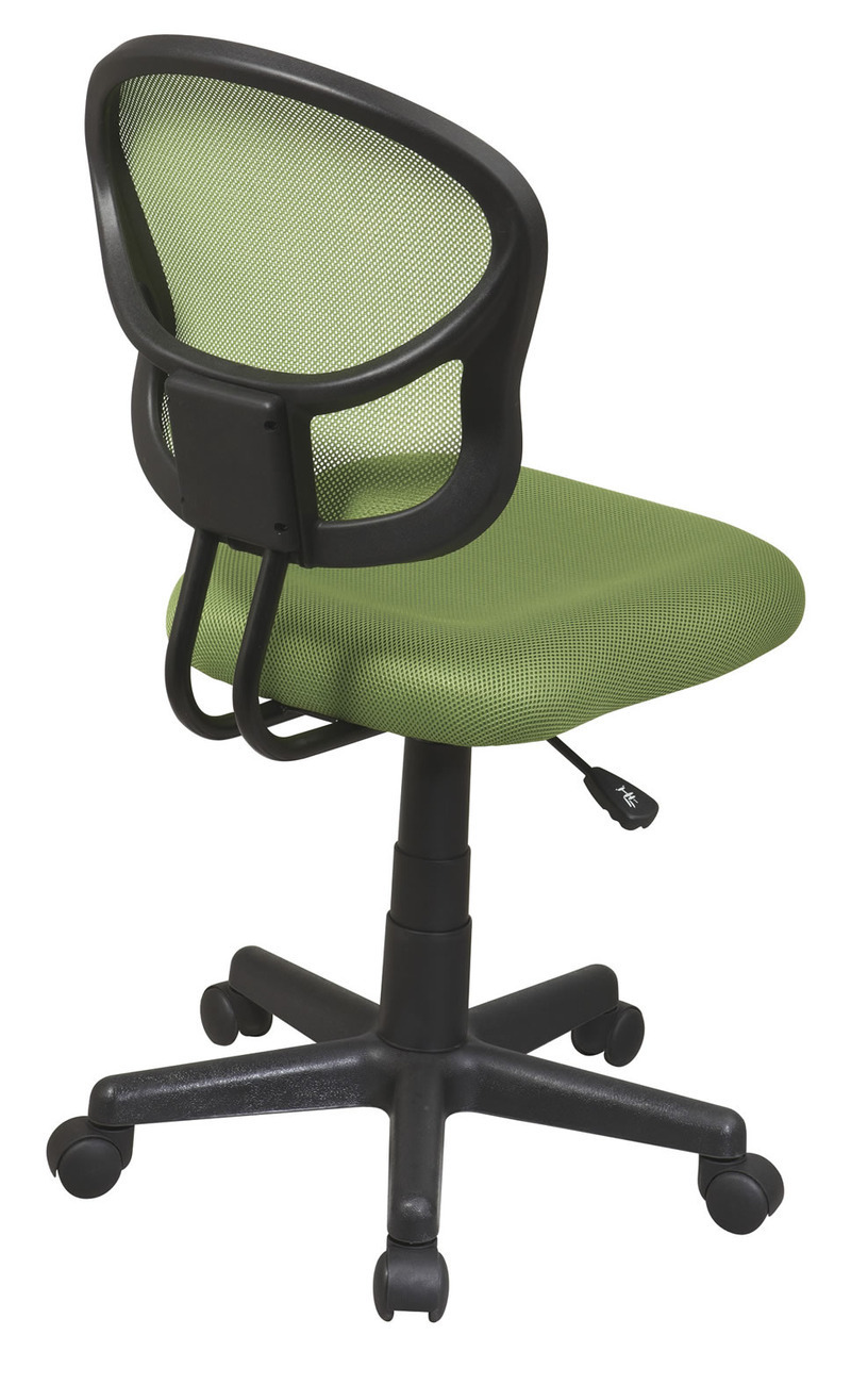 Screen back green fabric seat computer desk task swivel for Chair with swivel desk