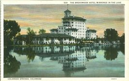 The Broadmoor Hotel Mirrored in the lake, Colorado Springs, Colorado Postcard - $4.99