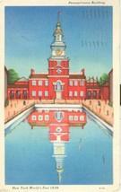 Pennsylvania Building, New York World Fair 1939 used Postcard  - $4.50