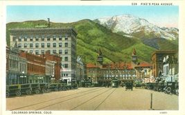 Pike's Peak Avenue Colorado Springs, Colorado early 1900s unused Postcard  - $4.99