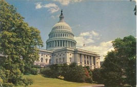 Washington DC The Capitol 1950s unused Postcard  - $3.99
