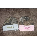 Personalized Camouflage Camo  for Boy or Girl Newborn Baby Beanie Hat ... - $19.99