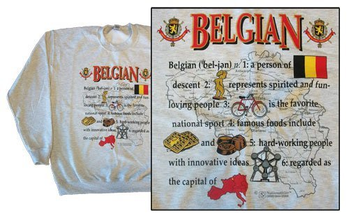 Belgium national definition sweatshirt 10264
