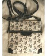 Dooney & Bourke Black & White 1975 DB Signature Letter Carrier Crossbody... - $64.99